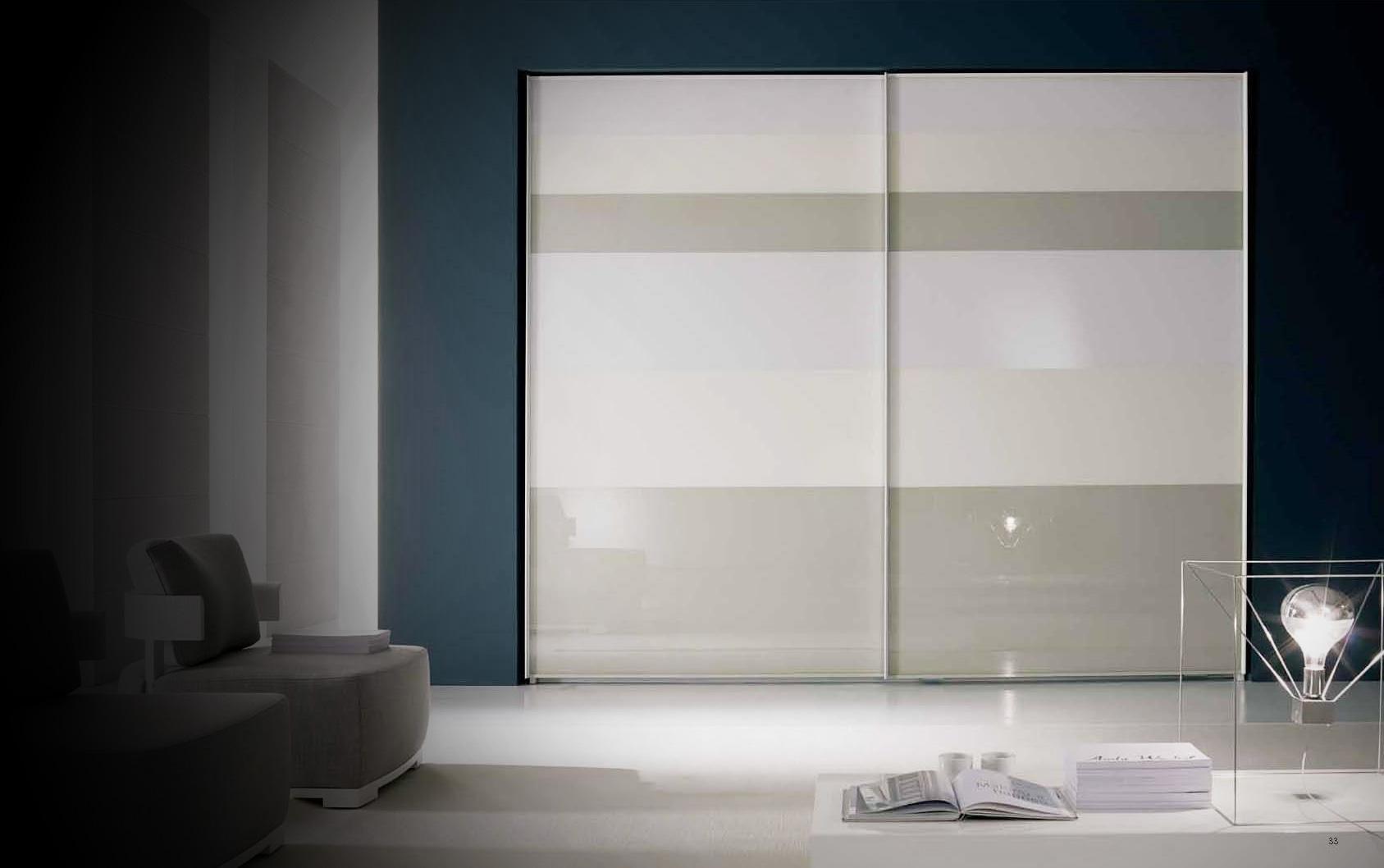 wardrobe bedroom cabinet materials in metalic glass